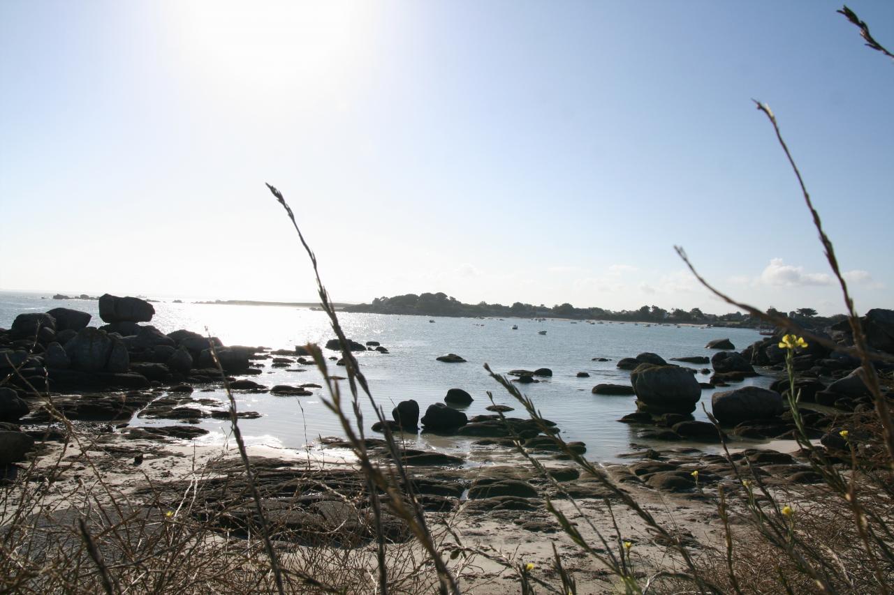 Entrée de La baie de Brignogan Plages